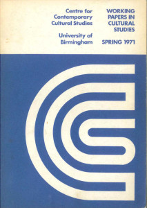 The Cover of Working papers in Cultural Studies Spring 1971